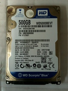 データ復旧WDC5000BEVT-2
